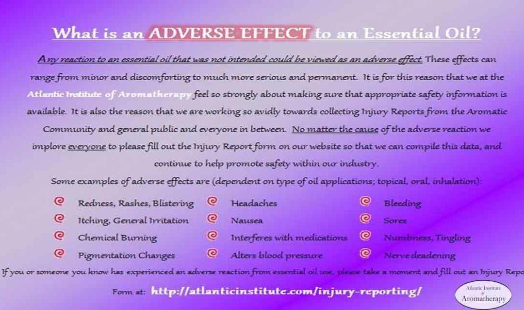 What IS an adverse effect of essential oils?